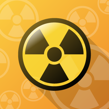 RSC symbolic icon - radiation symbol