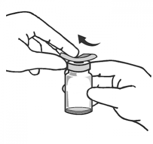 vial stopper swab alcohol